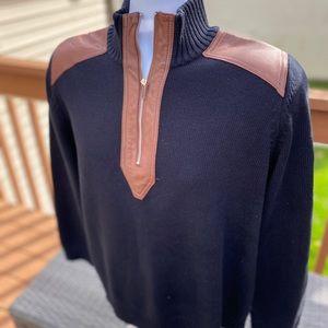 Ralph Lauren *leather trim* cotton sweater - 1X